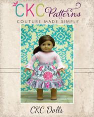 Cosette's Knit and Woven Dress Doll Size PDF Pattern