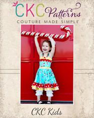 Cammy's Wrap Bodice Dress Sizes 6/12m to 8 Girls PDF Pattern