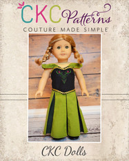 Annabelle's Princess Dress-Up Set Doll Size PDF Pattern