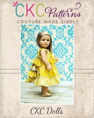 Blair's Bustled Knot Dress Doll Size PDF Pattern