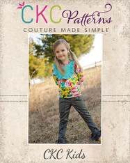 Delaney's Bib, Bow, and Band Top Sizes NB to 14 Girls PDF Pattern