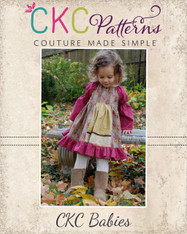 Molly's Baby Faux Apron Peasant Dress PDF Pattern