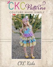 Blanche's Frilly Top and Dress Sizes NB to 8 Girls PDF Pattern