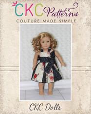 Gwen's Sweetheart Godet Dress Doll Size PDF Pattern
