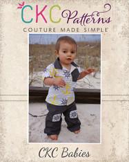 Noah's Baby Knee Patch Pants PDF Pattern