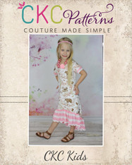 Lyric's Girls and Tweens Knit High Low Ruffle Dress and Tunic PDF Pattern