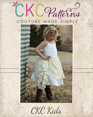 Annie's Cascade Ruffle Dress Sizes 6/12m to 8 Girls PDF Pattern