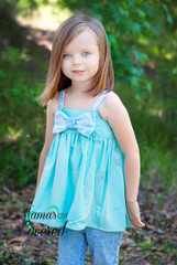 Hattie's Simple Bow Top, Dress, and Maxi PDF Sewing Pattern