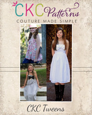 Hattie's Tween Simple Bow Top, Dress, and Maxi PDF Pattern