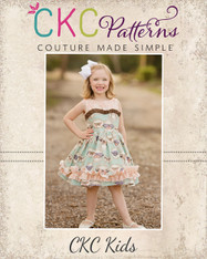 Celeste's Classic Boat Neck Dress and Top Sizes NB to 15/16 Girls PDF Pattern