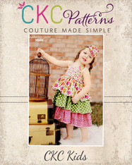 Addison's Triple Ruffle Low Back Dress Sizes NB to 8 Girls PDF Pattern