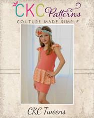 Peggy's Tween Peplum Dress PDF Pattern
