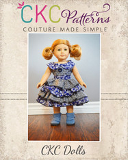 Blanche's Frilly Top and Dress Doll Size PDF Pattern