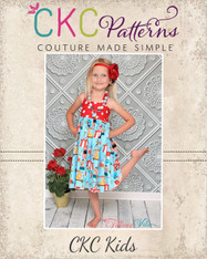 Amber's Simple Halter Top and Dress Sizes 6/12m to 15/16 Girls PDF Pattern