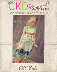 Ainsley's Tiered Knit Tank Dress and Tunic Sizes 6/12m to 8 Girls PDF Pattern