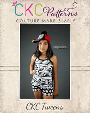 Callie's Cami and Boy Shorts Set Sizes 6/12m to 15/16 Girls PDF Pattern
