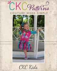 Cassandra's Colorblock Knit Cascading Ruffle Dress and Top Sizes 6/12m to 7/8 Girls PDF Pattern
