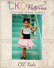 Antoinette's Double Layer Twirly Skirt Sizes NB to 15/16 Kids and Dolls PDF Pattern