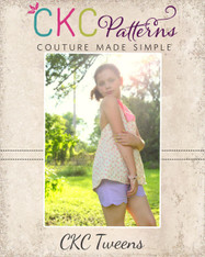 Madeline's Tween Reversible Scalloped Shorties PDF Pattern