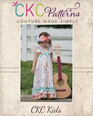 Loretta's V-Neck Ruffle Top, Dress and Maxi Sizes NB to 15/16 Kids PDF Pattern