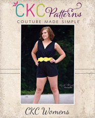 Camila's Crossover Romper Sizes XS to XL Women PDF Pattern