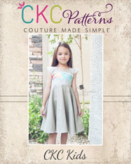 Frenchy's Fifties Flair Dress and Peplum Sizes 6/12m to 8 Kids PDF Pattern