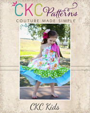 Aria's One Shoulder Top, Dress, and Maxi Sizes NB to 15/16 Girls PDF Pattern