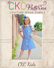 Candice's Button-Up Dress and Top Sizes 6/12m to 8 Girls PDF Pattern