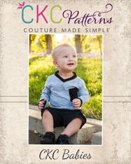 Zach's Baby V-Neck Ringer Tee PDF Pattern