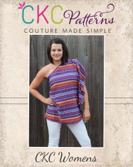 Milan's One‐Shoulder Top and Dress Sizes XS to 5X Adults PDF Pattern