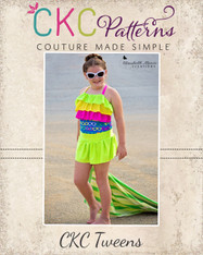 Pearl's Tween One-Piece Swimsuit PDF Pattern