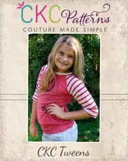 Heather's Tweens Ruffled Raglan T-Shirt PDF Pattern