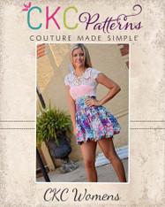 Daphne's Bubble Skirt Sizes XS to XL Women PDF Pattern