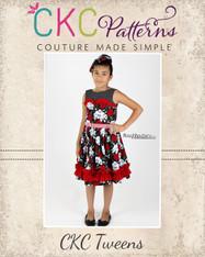 Celeste's Tween Classic Boat Neck Dress and Top PDF Pattern