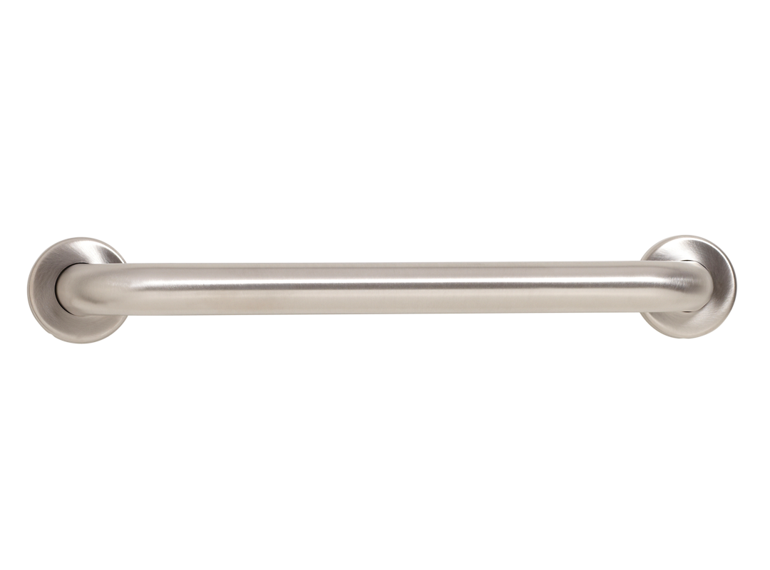 "Seachrome Brushed Stainless Steel Wall Grab Bar - 24"" - GSS-240-QCR"