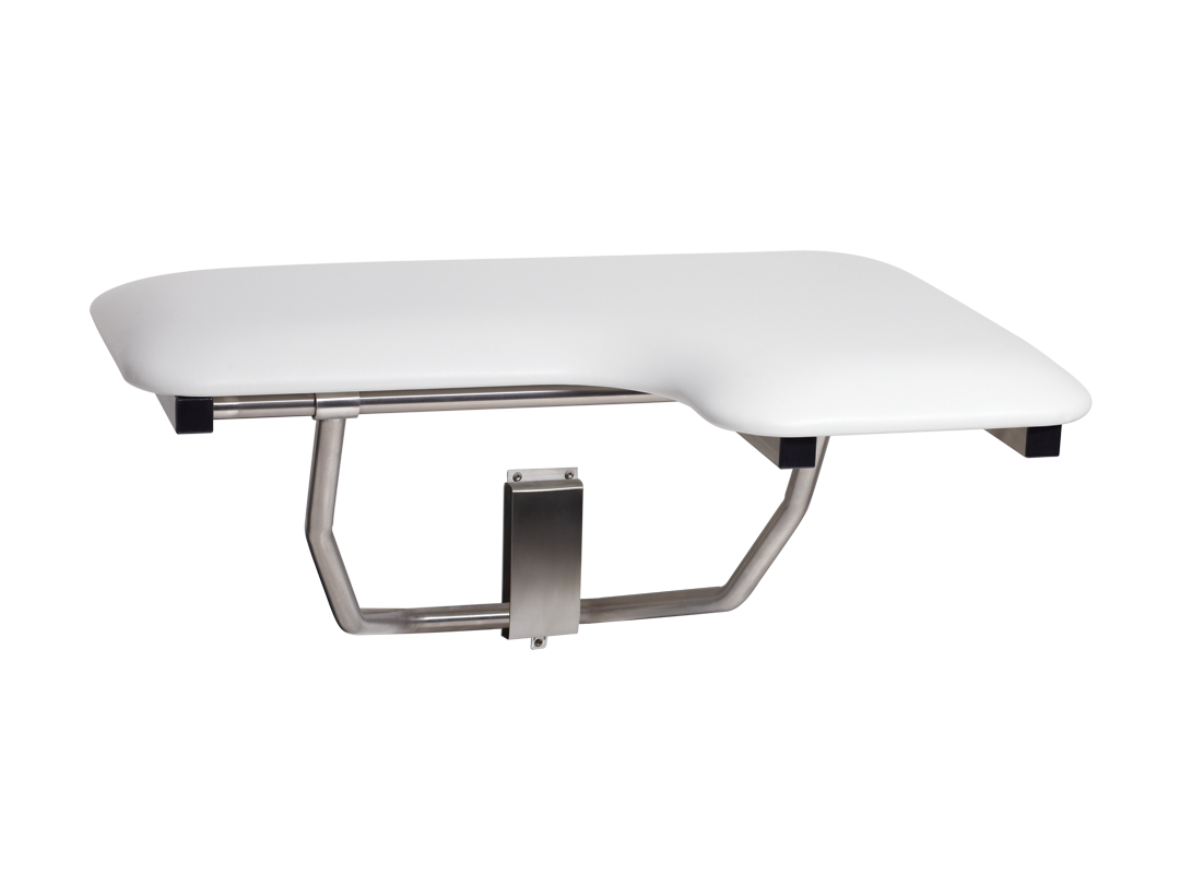 "Seachrome Bench Style Shower Seat Naugahyde White 18"" x 15"" | SSB-180150 NW"