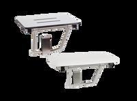 "Seachrome Bench Style Shower Seat Naugahyde Cushion White 18"" x 15"" | SSB-180150 NW"