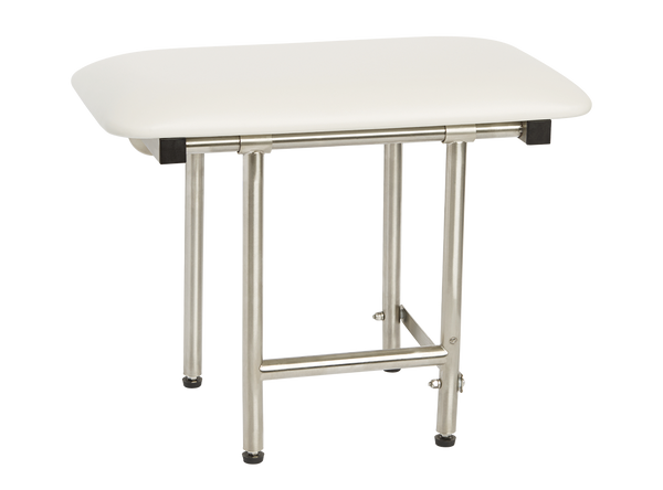 "Bench Style 18"" x 15"" Shower Seat by Seachrome   Swing Down Legs   Naugahyde SSB2-180150"