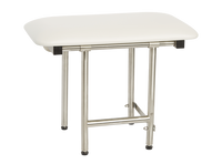 "Bench Style Shower Seat by Seachrome | 22"" x 15"" w/ Swing Down Legs 