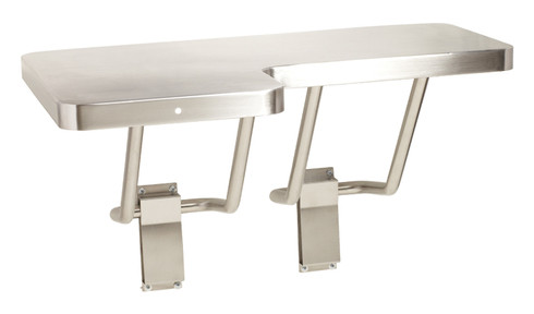 Seachrome L-Shaped Stainless Steel Transfer Shower Seat