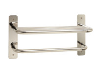 "Seachrome Commercial Stainless Steel 18"" Heavy Duty Towel Shelf With Bar - 15820-18-PS"