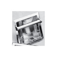 Seachrome Recessed Fixture Soap / Tumbler Holder With Metal Lip Polished Stainless Finish (Qty = 40) - 660L-SS