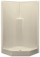 Aquarius AcrylX™ Corner Neo-Angle Shower 39.5W x 39.5D x 78.5H Molded Soap Ledge Center Drain | G3892SHNA