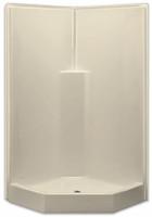 Aquarius AcrylX™ Corner Neo-Angle Shower   39.5W x 39.5D x 78.5H   Molded Soap Ledge Center Drain   G3892SHNA,  one-piece shower, 1-piece shower, corner shower, neo angle shower, remodel shower, multi-piece shower, 3-piece shower, low threshold, three piece, three piece shower, Cheap sectional shower, Discount standard sectional, low price shower, best price shower, cheap 3 piece shower, grab bar shower, sectional shower