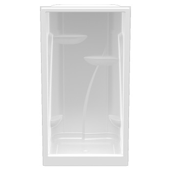"Aquarius Premium Acrylic Extra-tall Domed Enclosed Shower | 48""W x 35.75""D x 90""H 