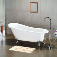 "Cambridge Plumbing - Acrylic  Slipper Bathtub 67"" X 30"" - AST67"