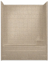 Aquarius Millenia Tub Shower 60W x 33D x 77H Tile Pattern | RH Drain M6032TSTile R