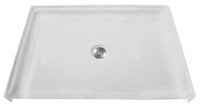 "Aquarius AcrylX™ Barrier Free Shower Pan Center Drain | 38.625""W x 38.4375""D x 4.5""H 