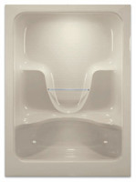 Aquarius 60 x 36 Acrylic Residential Enclosed Shower 2 Molded Seats Drain Center - A6036SH2S