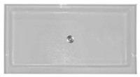 "Aquarius AB 3448 | 48W x 34D x 5.25H | Center drain | Premium Acrylic shower pan | 4"" threshold"